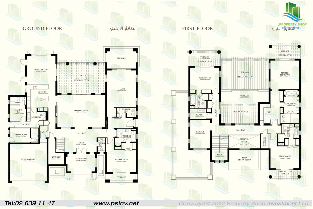4 Bedroom Villa Plans Of St Regis Villa Saadiyat Island In Abu Dhabi