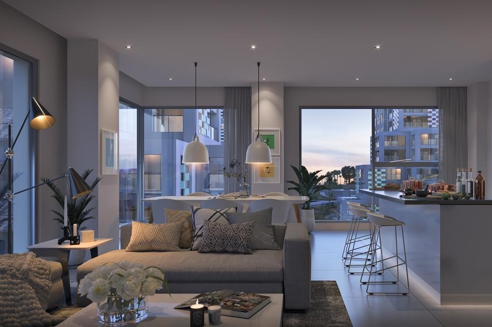 Dining Room-Reem Island's First & Only residential community with Beach access.