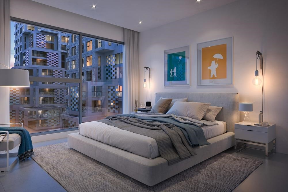 Master Bedroom-Reem Island's First & Only residential community with Beach access.