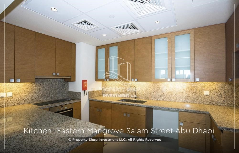 Kitchen-Best price for 1BR Apartment In Eastern Magroves! Up to 12 Payments + ZERO COMMISSION