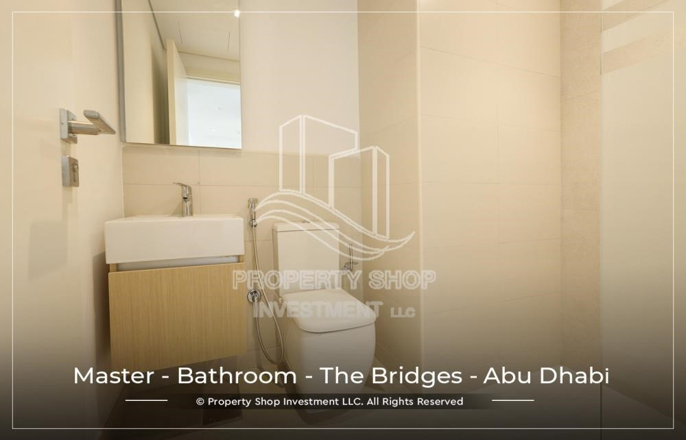 Master Bathroom-1 BR available for Leasing from June in Brand New Tower!