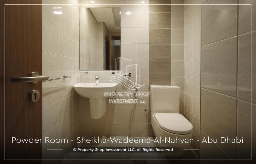 Bathroom-2BR Apt in a brand new building offered for 4 Cheques!