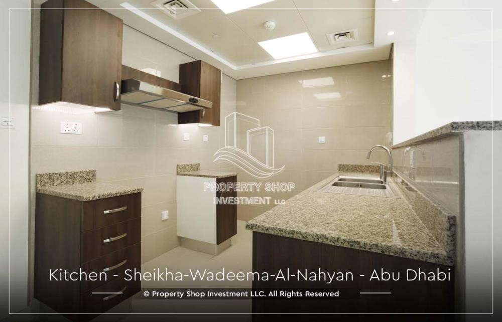 Kitchen-2BR Apt in a brand new building offered for 4 Cheques!