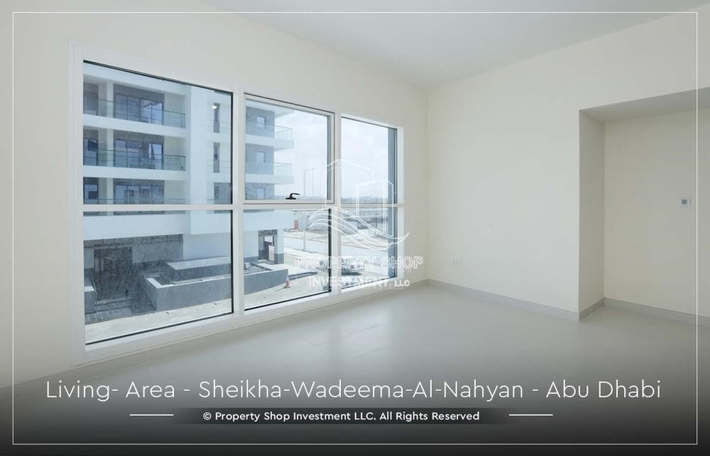 Living Room-2BR Apt in a brand new building offered for 4 Cheques!