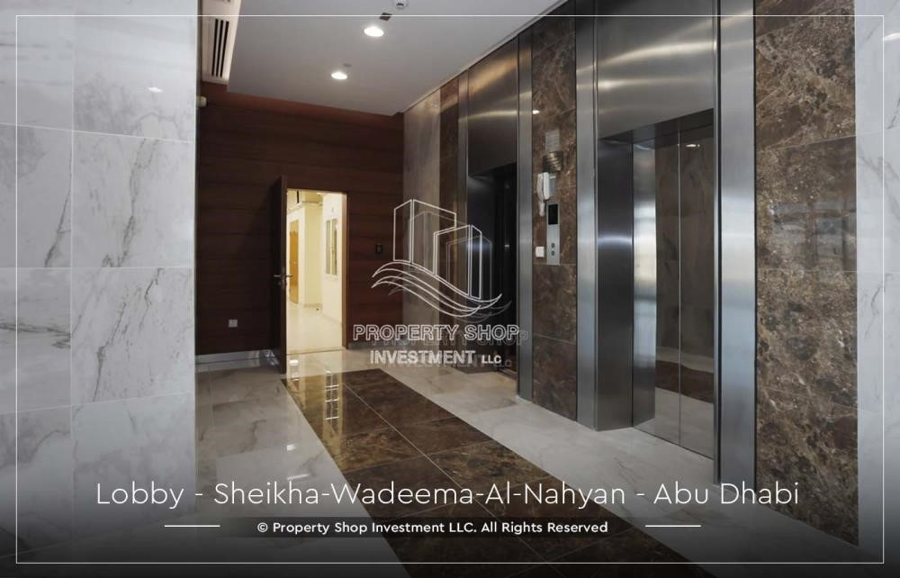 Lobby-2BR Apt in a brand new building offered for 4 Cheques!